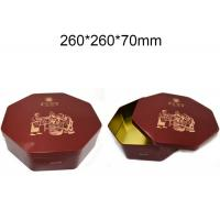 Quality Metal Octagonal Shape Empty Custom Packaging Boxes Hinged Tins Containers Durable for sale