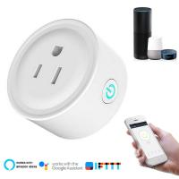 Quality Smart Socket US Wifi Plug with Surge Protector, Voice Control Smart outlet Work with Alexa Google Home Tuya APP for sale