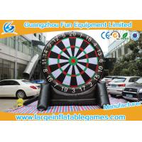 Buy cheap Single Dart Board Commercial Inflatable Football Games For Kids 4mH from wholesalers