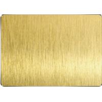 Quality Golden Yellow Colored Stainless Steel Sheets Vacuum Plating HL Surface for sale