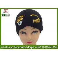 Buy cheap Chinese manufactuer embroider knitting stripe hat 53g 20*22cm 100%Acrylic keep from wholesalers