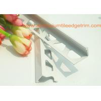 Quality White Right Angle Metal Tile Trim 10mm For Tile Edging Protection for sale