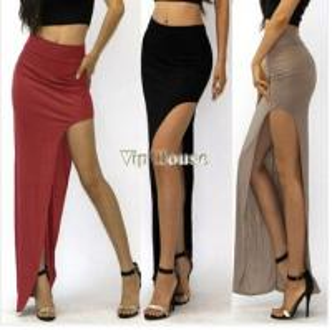 China Fashion Summer Sexy Women Long Skirts Lady Open Side Split Skirt Long Maxi Skirt on sale