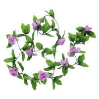 Quality PP Eco - Friendly Fake Silk Flower Stems , Fabric / Plastic Artificial Greenery Stems for sale