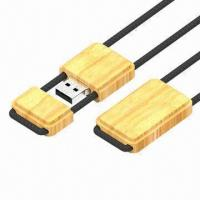 Buy cheap USB Flash Drives with Wooden Shell and Rope Lanyard, Bus-powered USB, OEM Orders Welcomed product