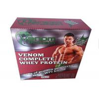 Whey Protein Packaging Paper Square Box / Pharma Box Embossing And Debossing Finish