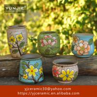 Buy Home decoration flowers small plant art handmade ceramic planter at wholesale prices