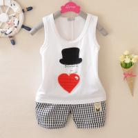 Quality cotton baby vest set summer baby clothing infant 0-1-2-3 wear for sale