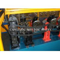 Buy Galvanized Metal Steel Sheet CZ Purlin Cold Roll Forming Machine Hydraulic Cutting Type at wholesale prices