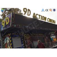 Buy cheap Metal Flat Screen 9D Movie Theater , Truck Mobile Cinema , Private Customized product
