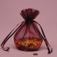 Quality Beautiful Red Organza Gift Bags With Drawstring For Jewelry for sale