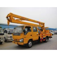 Quality ISUZU 600P 6 Wheel Aerial Platform Truck , Automatic 16 Meters Aerial Lift Truck for sale