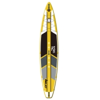 """Quality Yellow 352 Lbs 12.5' X 30"""" X 6"""" Racing Inflatable SUP Surfboard for sale"""