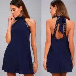 China sexy backless halter lady dress on sale