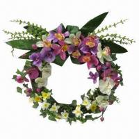 Quality Artificial flower wreath for spring decoration for sale