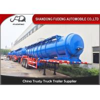 Quality Factory export trailer 2 / 3 axles sulfuric acid storage tank trailer with 20000 liters capacity for sale