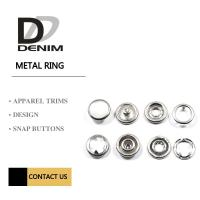 Quality Pearl Metal Clothing Buttons , Small Prong Type Snap Button Size Customized for sale