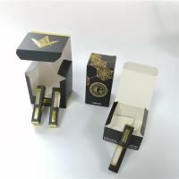China Child Proof Gift Box Packaging Colored Printed Folding Paper E Cigarette Smoke Oil Bottle on sale