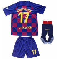 Custom Competition Clothing , Youth Soccer Jerseys  Barcelona Griezmann 17 For Kids