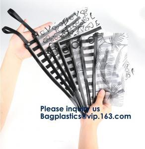 Matte Frosted PVC EVA Slider Zipper Bag Sock Garment Packaging Bag,Custom Made Clear Pvc Slider Zipper Bags In Hot Sale
