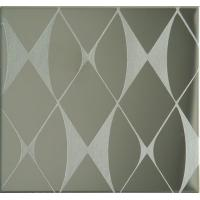 Quality Etching Patterned Stainless Steel Sheet , Colored Stainless Steel Backsplash Panel for sale