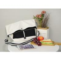 Adjustable Cotton Cross Body Bag ,  Foldable 10 OZ Recyclable Tote Bag