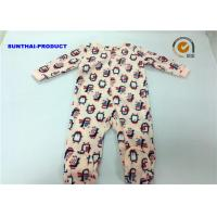 China Penguin Applique Baby Girl Coverall 100% Polyester Micro Fleece Pram Suit on sale