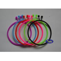 Cheap Thin Personalized Rubber Bracelets 100% Pure Silicone No Additives wholesale