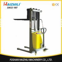 Buy cheap Low price material handling tools China 1000kg semi-electric stacker manufacture from wholesalers