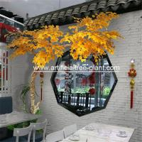 Yellow Leaves Artificial Evergreen Trees Indoor Decoration 5 Years Life Time for sale