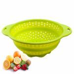 Colorful Folding 100% Eco-friendly fruit / vegetable silicone fruit basket
