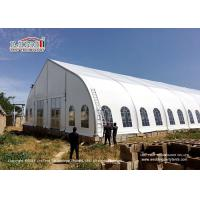 Custom Durable Curved Tent For Church Event With Clear Windows
