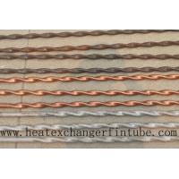 Quality Twisted Stainless Steel , Finned Copper Tube With Higher Heat Transfer Coefficient for sale