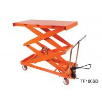 Quality Mobile Hydraulic Lift Table Cart , Adjustable Height Cart Scissor Lift for sale