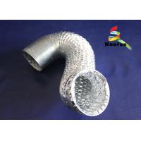 Buy cheap Silver 8 Inch Aluminum Flexible Duct , Fire Rated Flexible HVAC Duct product