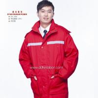 China Long Section Cotton Overall Worker Flame Retardant Labor Uniform on sale