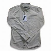 Quality Men's Long Sleeve Casual Shirt with Printing for sale