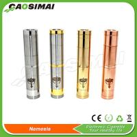China 2014 personal vaporizer stainless and copper nemesis mechanical mod on sale