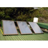Quality Aluminum Alloy Flat Panel Solar Water Heater , Circulation Pump for sale