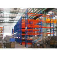 Blue Red Mobile Storage Racks Q235B Custom Pallet Electric Mobile Shelving