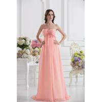 Cheap One Shoulder Sweetheart A-line Chiffon Long Evening Party Gown With Applique
