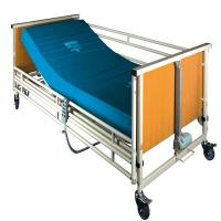 Quality Cold Rolling Steel Structure Automatic Patient Bed , Wood Medical Adjustable Bed for sale