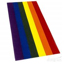 Quality 100% Cotton Gay Flag Beach Towel LGBT Pride Parade Rainbow Towel Colors Resistance for sale