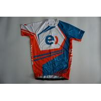 Quality OEM Sublimated Polyester Cycling Jerseys Short Sleeves for sale