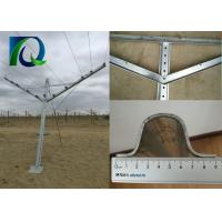 China Galvanized Steel V Shaped Trellis Posts , Steel Trellis System With 1.6M Arms Length on sale