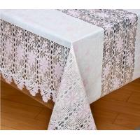 China Plastic Lace Tablecloth on sale