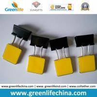 China Yellow Square Plastic Handle Metal Binder Paper Clip Office Using on sale