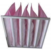 Quality HVAC System Pockets Bag Air Filters Pink Synthetic Fiber Medium Efficiency for sale