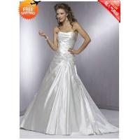 Buy Free Shipping Custom-made Beautiful Taffeta Sweetheart & Strap Floor Length Embroidery Wedding Dresses at wholesale prices