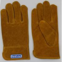 China 10 inch Cow Split Leather Working Gloves on sale